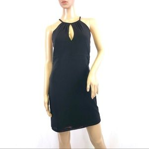 Guess black slip dress zip up back soft stretch